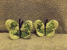 Crochet Green Butterfly Refrigerator Magnet Handmade Free Shipping