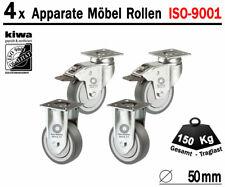 4er-Set 125mm lenkbar Transport-Rollen 4x Lenk-Rollen lenkbare Möbel-Rollen