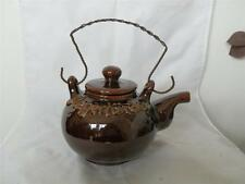 VINTAGE RARE SIEGERLAND MACKES CERAMIC BROWN GLAZED TEAPOT 1 PINTS