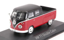 1/43 Norev VW Volkswagen T1 Double Cabin 1961 Red & Black Neuf Boite D'origine
