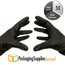 200 Glove Black Nitrile Industrial Gloves Latex Powder Free 3.5 Mil Medium
