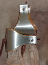 "New Wide USA Made Metal Bound Bell Stirrups 5"" With Old Silver Berry Conchos G&E"
