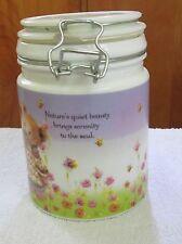 Teddy Bear Glass Jar Canister Hallmark