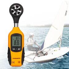 RISEPRO Medidorvelocidad velocidad flujo viento aire anemómetro del termómetro