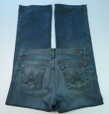"""Womens Seven For All Mankind 74AM """"A"""" Pocket Denim Blue Jeans Size 32/33x32 USA"""