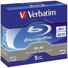 Blu-ray bd-re vergine 25 gb verbatim 43615 5 pz jewel case