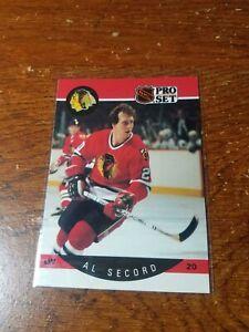 1990-91 Pro Set Al Secord #60 ERROR Alan on back Chicago Blackhawks