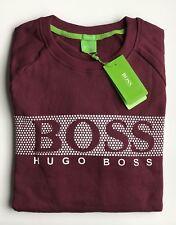 New Mens Hugo Boss Cotton Jumper Sweatshirts Fleece Maroon Size Large RRP