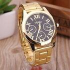 New Luxury Men Women Geneva Analog Gold Round Sport Quartz Wrist Watch top