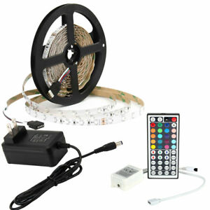 SUPERNIGHT® RGB 5M 3528 LED Strip Light 300leds+Power Supply+44keys Controller