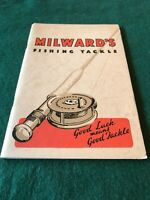 Milwards Fishing Tackle catalogue for 1938/39 in fine condition