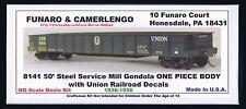 LMH Funaro F&C 8141 URR UNION Railroad  50' Gondola Steel Service Mill  1-PIECE