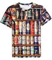 Beer Cans T-Shirt   unique festival trippy baked funny ironic 3d print colourful