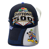 Daytona 500 Mickey Mouse Hat Cap Navy Kudzu ISC Motor Sports Nascar Adjustable