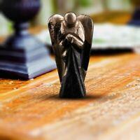Golden Pyrite Gemstone Carved Angel for Energy Generator Chakra Stone Balancing