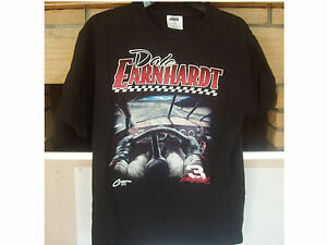 DALE EARNHARDT #3 Boys 16/18 Black T-Shirt New Nascar Racing Vintage