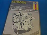 CITROEN DIESEL ENGINES 1984-87' J.H. Haynes Workshop Manual