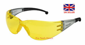 ELVEX RX400 BI FOCAL SAFETY GLASSES - AMBER - VARIOUS DIOPTERS - HIGHEST QUALITY