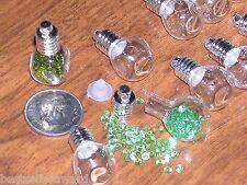 25 Lot Cube Mini Glass bottles urn perfume fill Vials charms beads tiny pendants