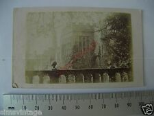 OLD CDV Q3 PHOTO Large Grand Victorian House external view Antique Image  011