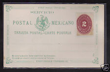 Mexico 2c Postal Stationery Postcard 1895