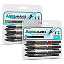 2 x Letraset Aquamarker 6 Pen Aqua Marker Sets 1 & 2