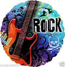 Rock Star Guitar Mylar Balloon 1pc Rocker Party Decoration Favor
