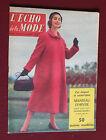 1956 L'écho de la mode N°40 Hebdomadaire féminin vintage couture rétro