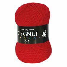Cygnet DK Soft 100 Acrylic Knitting Yarn 100g Red 1206