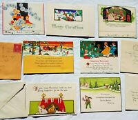 Lot ART DECO Vintage CHRISTMAS CARDS - ALL WITH CHILDREN Christmas Card Antique
