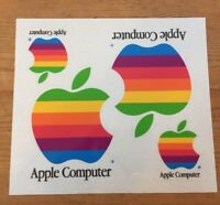 Vtg Apple Computers Mac Macintosh Rainbow Apple Logo Sticker Decal 1 Sheet
