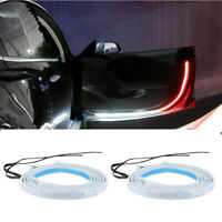 2X Waterproof LED Strip Lights Car Door Opened Warning Lamp Flash Signal Light
