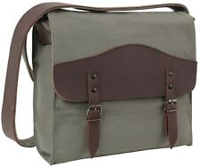 Black Vintage Military Canvas Shoulder Medic Bag Courier Bag Messenger Bag 9127
