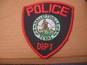 HALLETTSVILLE TEXAS POLICE PATCH