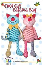 COOL CAT PAJAMA BAG SEWING PATTERN, FROM COOL CAT CREATIONS NEW