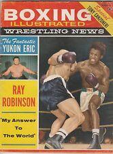 BOXING ILLUSTRATED MAG SUGAR RAY ROBINSON-CARMEN BASILIO BOXING HOFer MARCH 1960