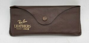 Vintage Bausch & Lomb Ray-Ban Leather Sun Glasses Case ONLY