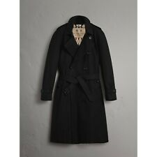 New Burberry The Westminster Extra Long Men's Authentic Trench Black Coat 48 US