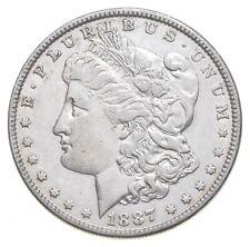 Early 1887 Morgan Silver Dollar - 90% US Coin *157