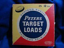 Classic Vintage Peters Target Loads Shotgun Shells 12 GA Ammo Box #40