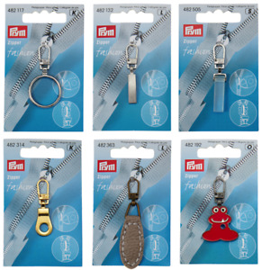 Prym Fashion Zip Zipper Pull Puller for Jacket Coat Trousers Bag - Choice of 49