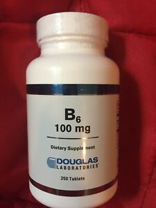 Douglas Laboratories - B6 - 100mg - 250 Tablets - Exp 07/2021 - Factory Sealed