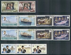 ANGUILLA 161-446 SG145-466 MNH 1972-81 Commemoratives 4 sets Cat$5