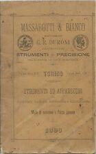 Catalogo Massarotti & Bianco - Strumenti Scientifici e di precisione Torino 1896