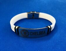 CHELSEA FC Stainless Steel Silicone Bracelet Fits All Age Brand New Wristband