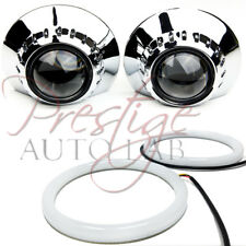 """2x E46-R 2.5""""-3"""" SHROUDS Halo UNIVERSAL for HID XENON PROJECTOR E46 BEZELS BMW"""