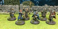 A Unit of 6 Beautifully Painted Saxon Command Group - Dark Ages SAGA - Victrix