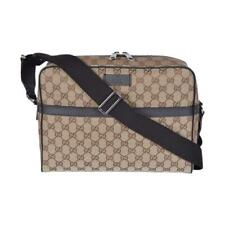 3ed8003d5b7 Gucci Unisex Beige Canvas GG Guccissima Camera Case Messenger Bag 449173
