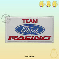 Team Ford Racing Embroidered Iron On Sew On Patch Badge For Clothes Bags etc