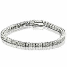 1 ROW TENNIS BRACELET WITH DIAMONDS IN STERLING SILVER 7 INCH